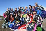Highlight for Album: sugar gliderz 2.0 women's vertical world record camp - march 5-6